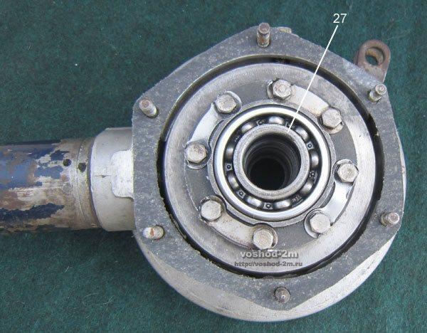 Номер 27 установка регулировочны шайб в главной передачи мотоцикла Урал