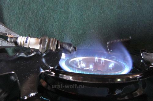 калим свечузажигания на газовой плите