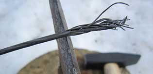 Обрубка троса