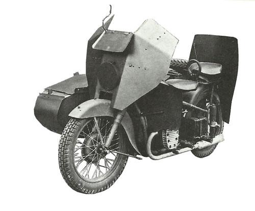 Мотоциклы Урал. Военный, бронированный мотоцикл М 72