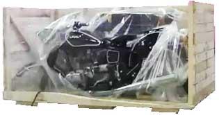 Новый мотоцикл Урал в упаковке