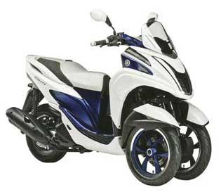 Трехколесный скутер Yamaha Tricity 2014