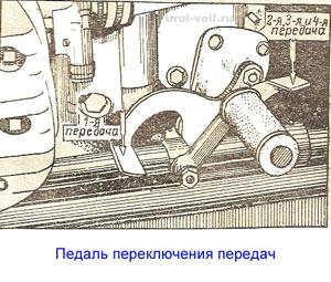 педаль переключения передач