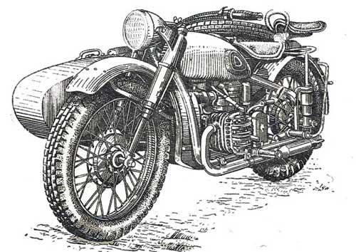 Мотоцикл Урал м-72