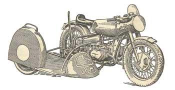 Спортивный мотоцикл Урал М-77 с каляской
